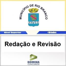 Apostila Câmara de Rio Branco 2016 Redação e Revisão