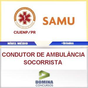 Apostila Ciuenp SAMU 2016 Condutor Ambulância Socorrista
