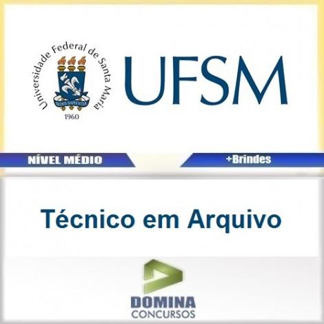 Apostila Concurso UFSM 2016 Técnico em Arquivo PDF