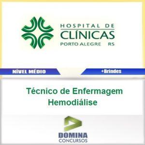 Apostila HCPA 2016 Técnico de Enfermagem Hemodiálise