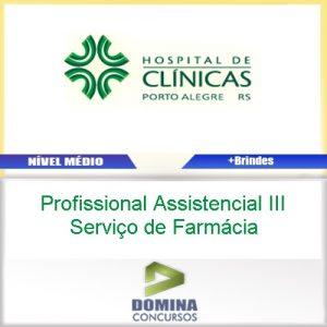 Apostila HCPA Profissional Assistencial Serviço de Farmácia