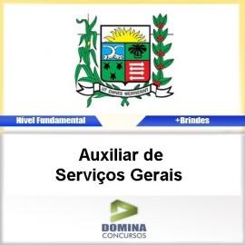 Apostila Araxá MG 2016 Auxiliar de Serviços Gerais PDF
