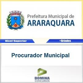 Apostila Araraquara SP 2016 Procurador Municipal PDF