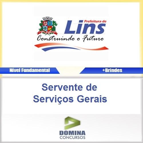 Apostila Prefeitura de Lins Servente de Serviços Gerais
