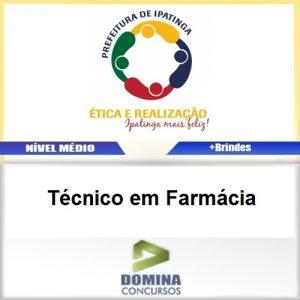 Apostila Ipatinga MG 2016 Técnico em Farmácia PDF