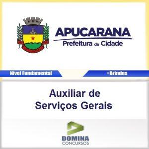 Apostila Apucarana PR Auxiliar de Serviços Gerais PDF