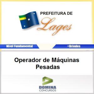 Apostila Lages SC 2016 Operador Máquinas Pesadas PDF