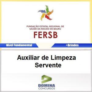 Apostila FERSB 2016 Auxiliar de Limpeza Servente PDF