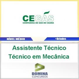 Apostila Cegás 2016 Assistente Técnico em Mecânica PDF