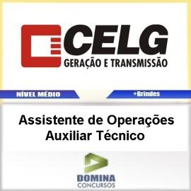 Apostila CELG GT 2017 Assistente Operações AUX TEC