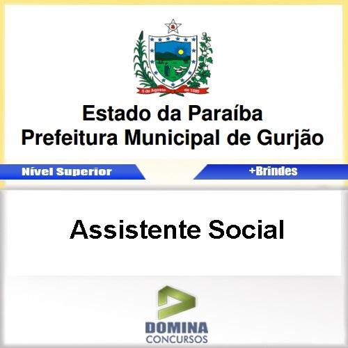 Apostila Concurso Gurjão PB 2017 Assistente Social