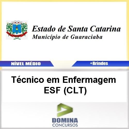 Apostila Guaraciaba SC 2017 Técnico Enfermagem ESF