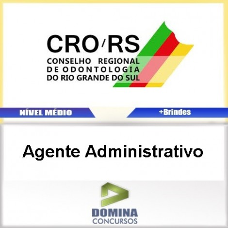 Apostila Concurso CRO RS 2017 Agente Administrativo