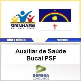 Apostila Sirinhaém PE 2017 AUX de Saúde Bucal PSF