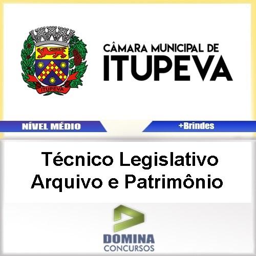 Apostila Itupeva SP TEC Legislativo Arquivo e Patrimônio
