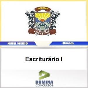 Apostila Concurso Jaborandi SP 2017 Escriturário I
