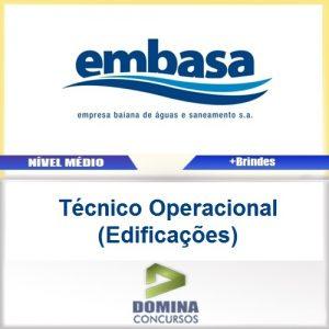 Apostila EMBASA 2017 Técnico Operacional Edificações