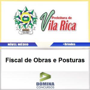 Apostila Vila Rica MT 2017 Fiscal de Obras e Posturas