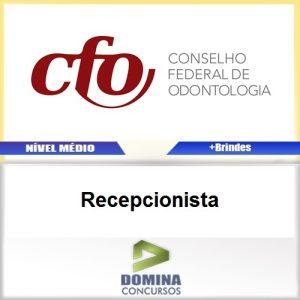 Apostila Concurso CFO 2017 Recepcionista