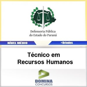 Apostila DPE PR 2017 Técnico em Recursos Humanos