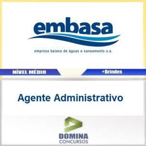Apostila EMBASA 2017 Agente Administrativo