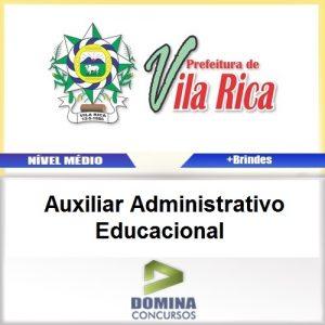 Apostila Vila Rica MT 2017 AUX ADM Educacional