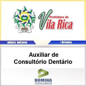 Apostila Vila Rica MT 2017 AUX Consultório Dentário