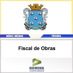 Apostila Diamantina MG 2017 Fiscal de Obras