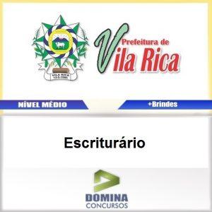 Apostila Concurso Vila Rica MT 2017 Escriturário