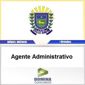 Apostila Concurso CRQ XX 2017 Agente Administrativo