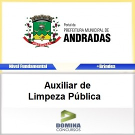 Apostila Andradas MG 2017 Auxiliar de Limpeza Pública