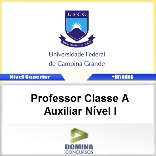 Apostila UFCG 2017 Professor Classe A Auxiliar Nível I