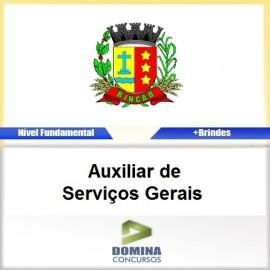 Apostila Rincão SP 2017 Auxiliar de Serviços Gerais