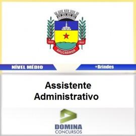 Apostila Apucarana PR 2017 Assistente Administrativo