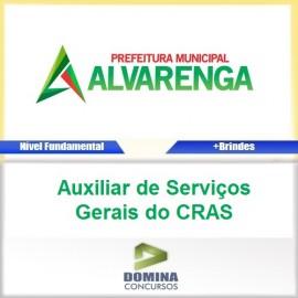 Apostila Alvarenga MG 2017 AUX Serviços Gerais CRAS