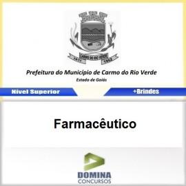 Apostila Carmo do Rio Verde GO 2017 Farmacêutico