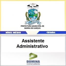 Apostila Barra do Garças 2017 Assistente Administrativo