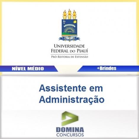 Apostila UFPI 2017 Assistente em Administração PDF