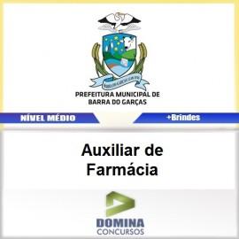 Apostila Barra do Garças 2017 Auxiliar de Farmácia