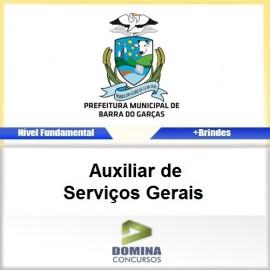 Apostila Barra do Garças 2017 AUX Serviços Gerais