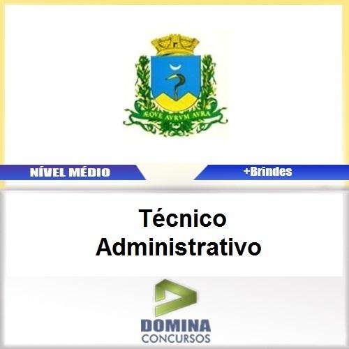Apostila Caconde SP 2017 Técnico Administrativo