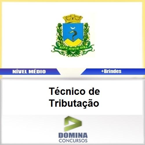 Apostila Caconde SP 2017 Técnico de Tributação