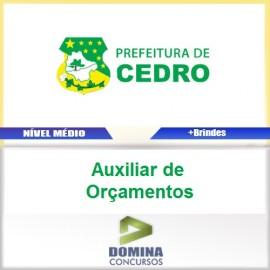 Apostila Cedro Go 2017 Auxiliar de Orçamentos