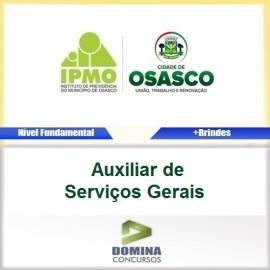 Apostila IPMO Osasco SP 2017 Auxiliar Serviços Gerais