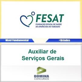 Apostila FESAT MS 2017 Auxiliar de Serviços Gerais