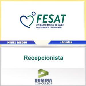 Apostila Concurso FESAT MS 2017 Recepcionista
