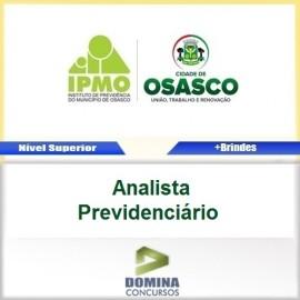 Apostila IPMO Osasco SP 2017 Analista Previdenciário