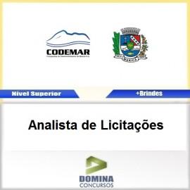 Apostila CODEMAR RJ 2017 Analista de Licitações