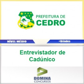 Apostila Cedro Go 2017 Entrevistador de Cadúnico