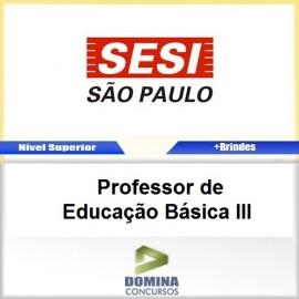 Apostila SESI SP 2017 Professor de Educação Básica III